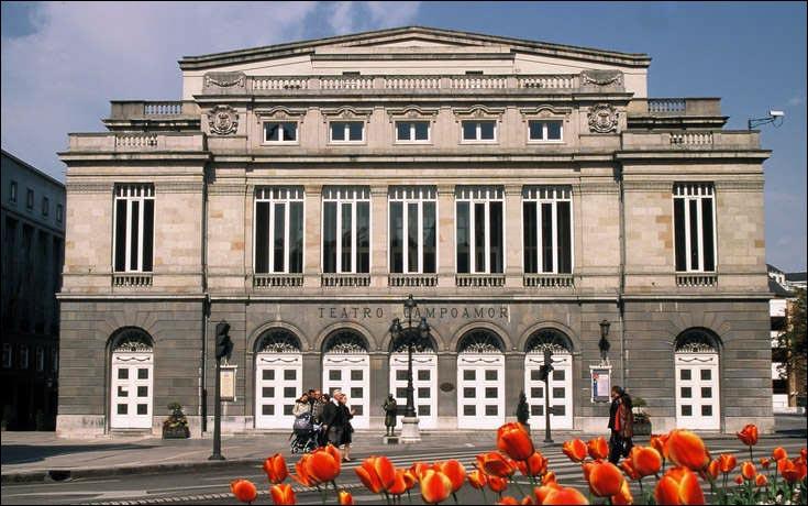 EL Teatro Campoamor en Oviedo